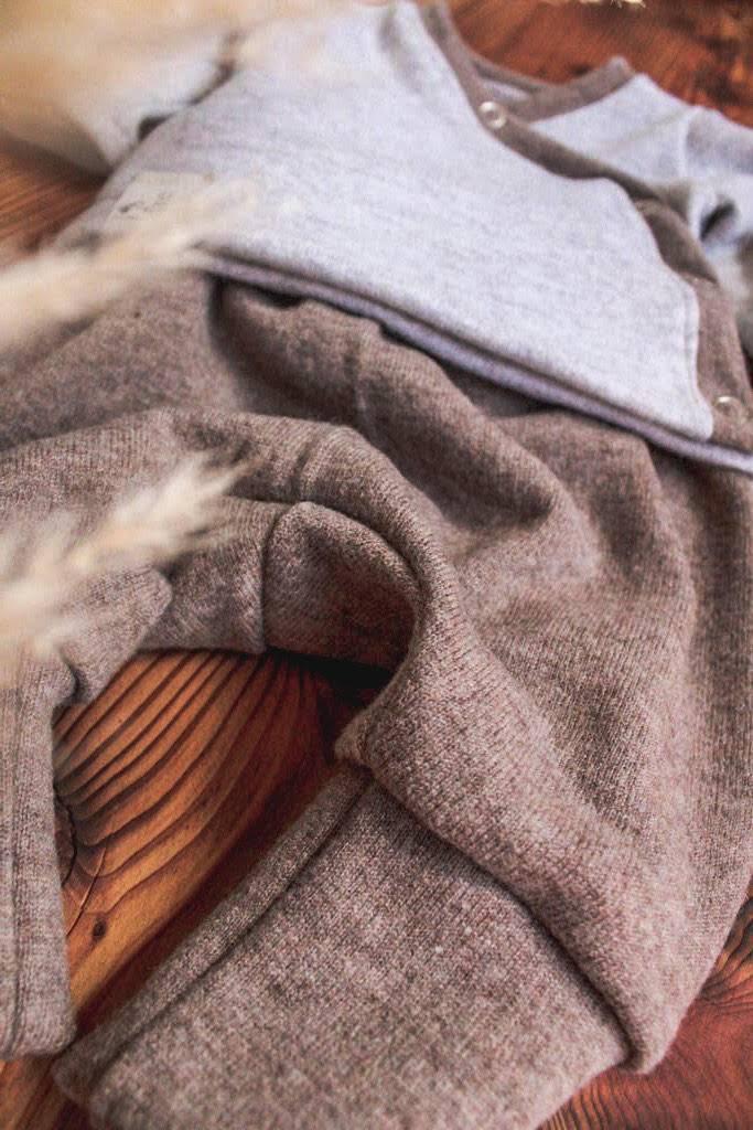 Wickelshirt Pumphose Wickeljäckchen Merinowolle Wolle/Seide Natürlich goldig