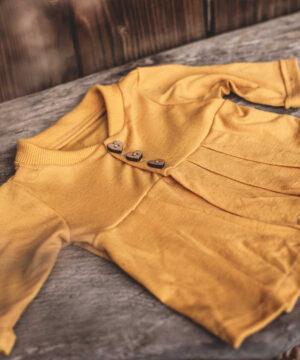 Cardigang Jacke für Mädchen Wolle/Seide Merinowolle Natürlich goldig