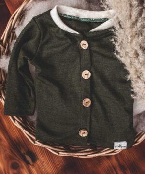 Cardigang Jacke für Jungs Wolle/Seide Merinowolle Natürlich goldig