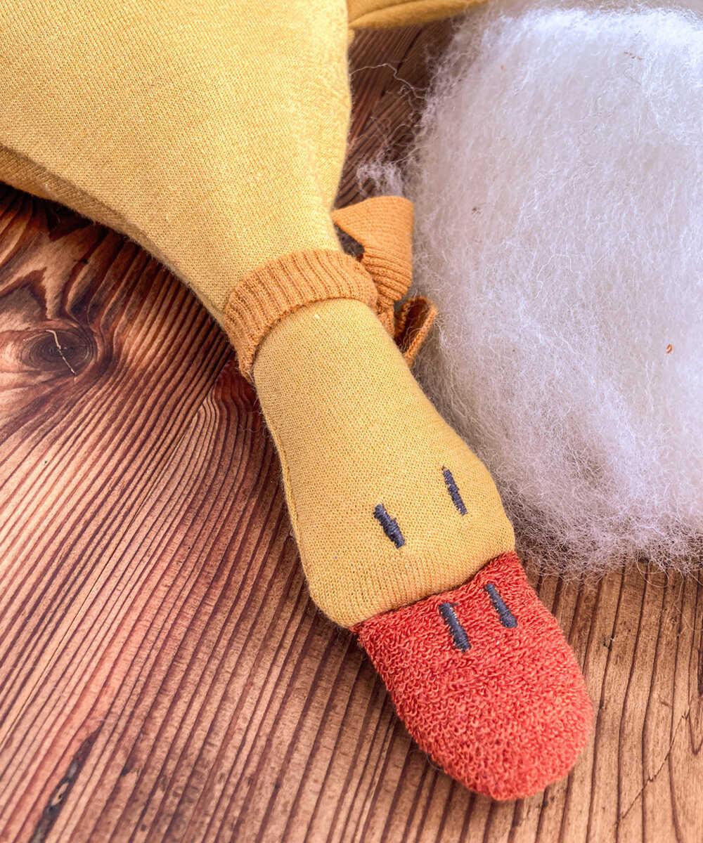 Natürlich goldig Kuschelgans Schafwolle Kirschkerne Dinkelspelz