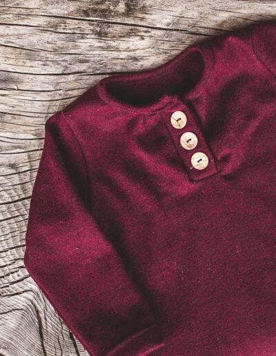 Langarmshirt Wolle/Seide Merinowolle Natürlich goldig