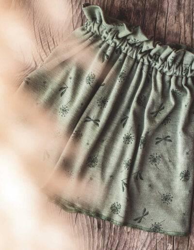 Rock Merinowolle Wolle/Seide Wollbündchenstoff Natürlich goldig