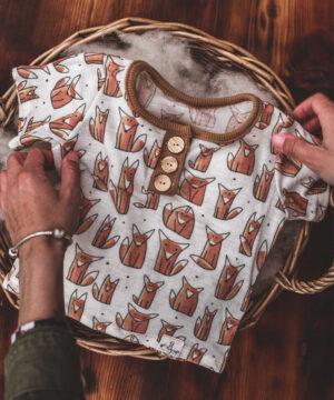 T-Shirt Merinowolle Wolle/Seide Natürlich goldig
