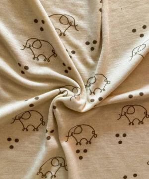 Stoff Elefantentanz Wolle Seide